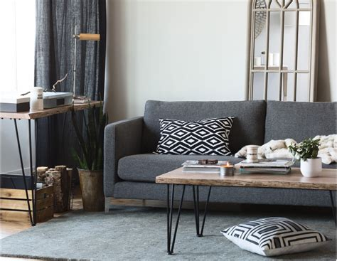 Coffee Table Accent Pieces Reno Solid Acacia Wood Coffee Table Hairpin Legs Rustic Modern And Accent Pieces