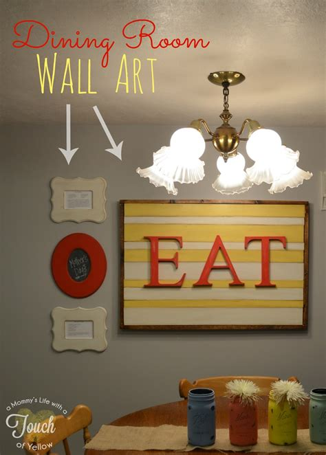 wall art ideas for dining room a mommy s life with a touch of yellow dining room wall
