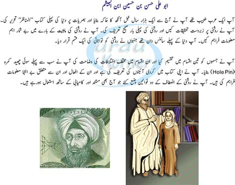 biography islamic scientist abu ali hasan ibn hussian bin hashim history in urdu