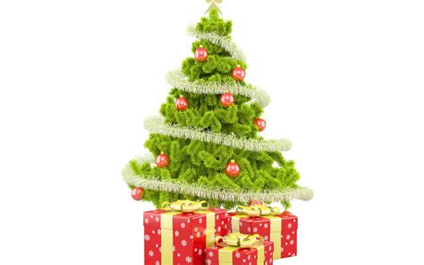 christmas tree with christmas gifts 1280x800 wallpaper