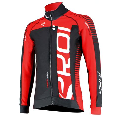 red cycling jacket ekoi perfolinea black red thermal cycling jacket ekoi