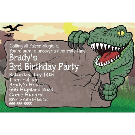 dinosaur invitations template dinosaur birthday invitations template resume builder