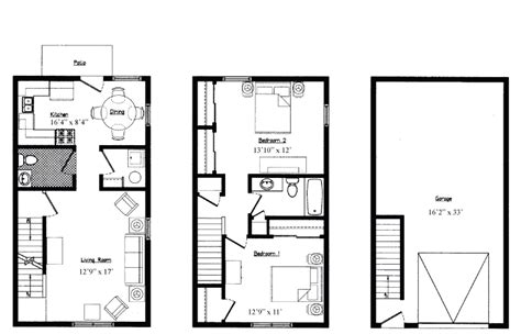 one bedroom floor plans with garage jbj properties south meadow estates apartments
