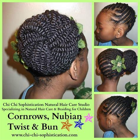 nubian braid with bun cornrows nubian twist bun www chi chi sophistication