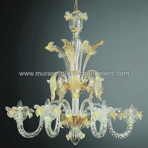 kronleuchter occasion accademia 5 lights murano chandelier murano glass