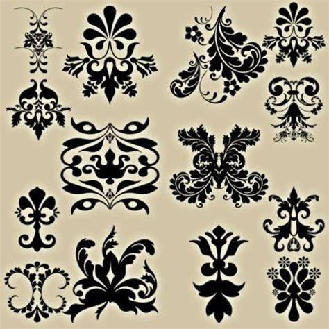damask pattern brush 518 best images about printables flourishes borders