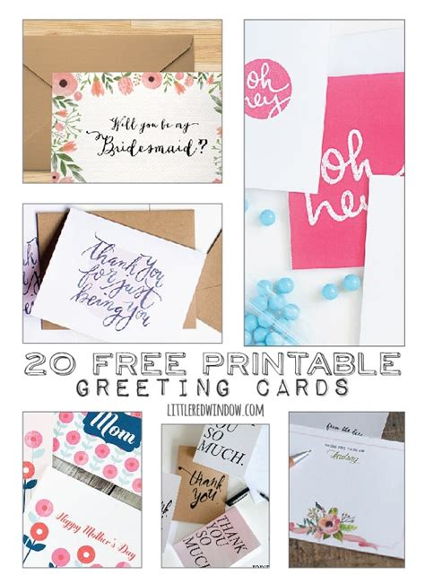 free printable e greeting cards 20 free printable greeting cards little red window