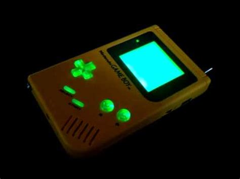 gameboy micro led mod custom gameboy dmg with sound reactive button lights from