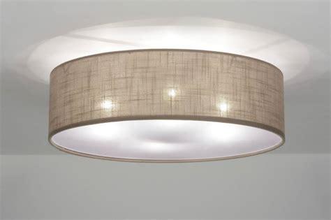 Deckenleuchte Rund Großer Durchmesser by Deckenleuchte 71763 Modern Metall Stoff Taupe