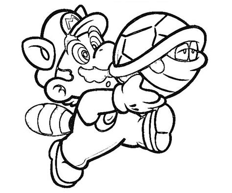 free coloring pages of super mario 3 d