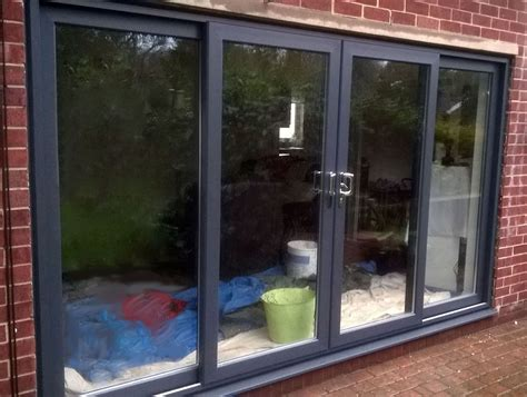 How Wide Are Patio Doors by Grey Upvc 4 Pane Sliding Patio Door 3000 3200mm Wide Ebay