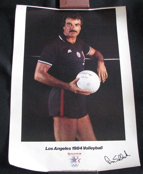 Poster of Tom Selleck 1984 Volleyball Captain by Dustinthewindz