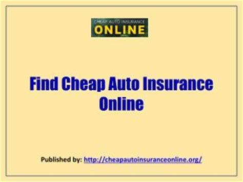 PPT   Cheap auto insurance in California PowerPoint