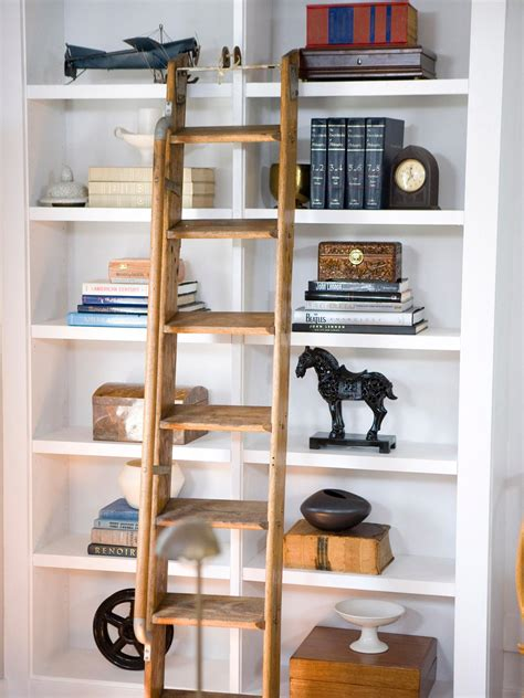 decorate bookshelf staged to perfection hgtv