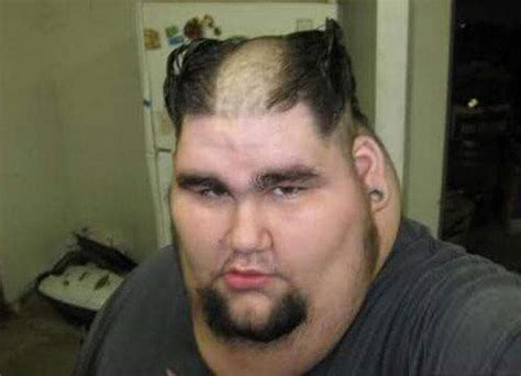 fat men hairstyles fat man with funny haircut