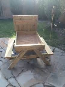 Plans To Build A Child S Picnic Table by How To Build A Kids Picnic Table And Sandbox Combo Diy Projects For Everyone