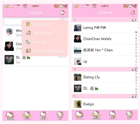 theme hello kitty iphone 6 kitty fang hello kitty wechat theme ver 6 2 2 new
