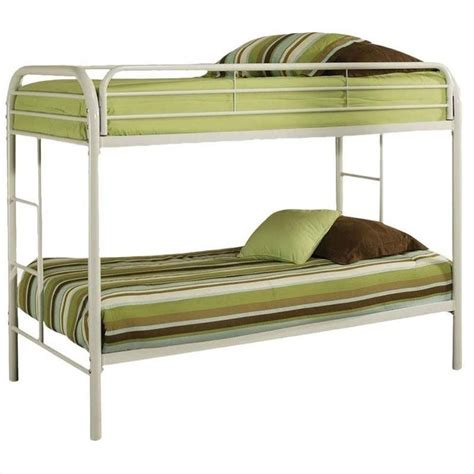 thomas twin bed acme furniture thomas twin bunk bed in white 02188wh