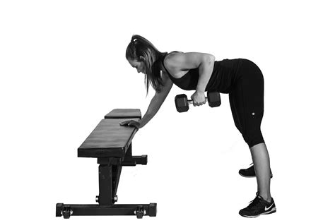 dumbbell bench row dumbbell row lying on bench benches