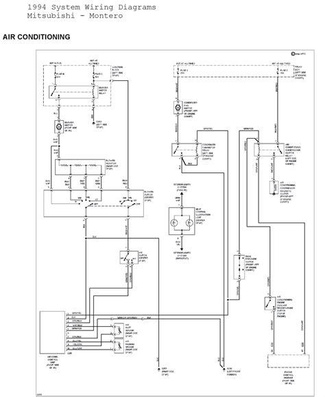 manual  mitsubishi montero system wiring diagrams