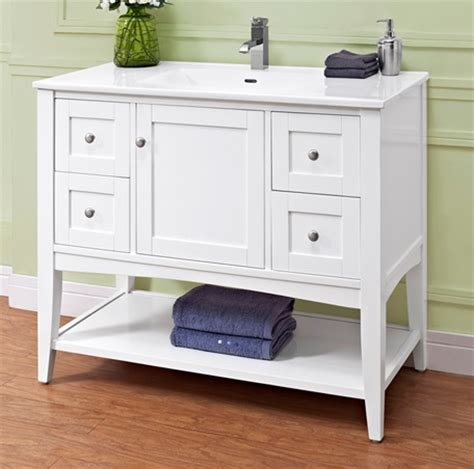 Shelf Vanity by Shaker Americana 42 Quot Open Shelf Vanity Polar White