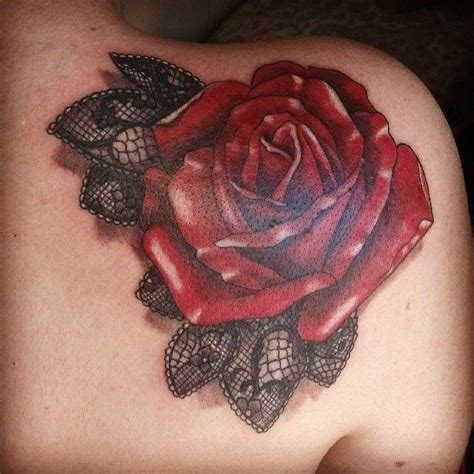rose with lace tattoo lace inspirations