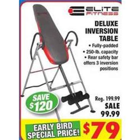 inversion table for big and elite fitness deluxe inversion table at big 5 sporting