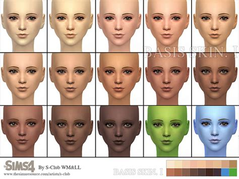 mod the sims sims 4 skins wmll sims 4 bassis skintones i by s club at tsr 187 sims 4