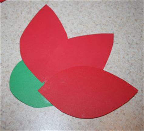 Paper Poinsettias Made From Recycled Cards Template by Paper Poinsettia Craft All Network