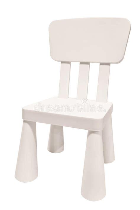 chaise plastique enfant chaise blanche de plastique d enfants photo stock image