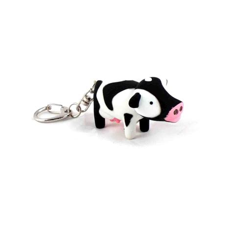 cow keychain led light cute cow light up keychain with sound fx pink cat shop