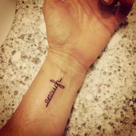 grace wrist tattoo 1000 images about tatoos inspirational on