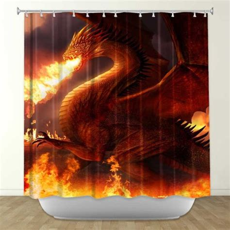 dragon shower curtain dragon shower curtains gifts for dragon lovers