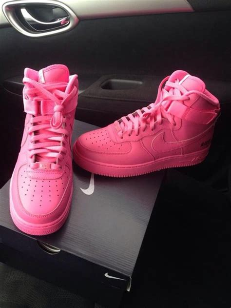 Nike One High Pink shoes high top nike air 1 sweater