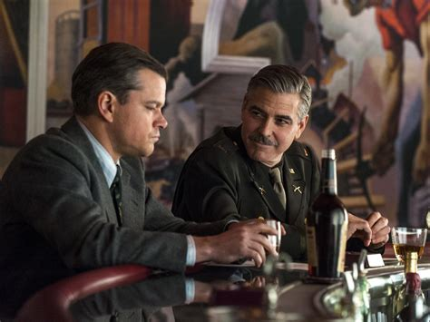 george clooney and matt damon the monuments wastes an excellent ensemble in a dull