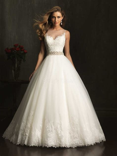 elegant look with ball gown wedding dresses