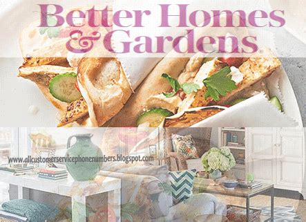 bh and g better homes and gardens customer service phone
