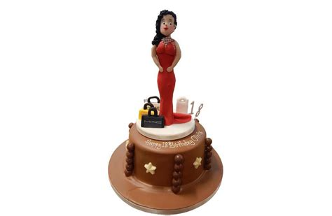 Brown Cake Diameter 20 chocolate cake with sugar figure