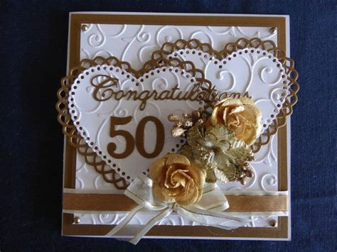 Handmade 50th Anniversary Cards - 25 best ideas about 50th anniversary cards on