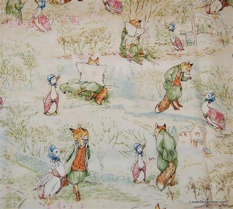 Beatrix Potter Quilt Fabric by Beatrix Potter Story Fox Goose Rabbit Jemima