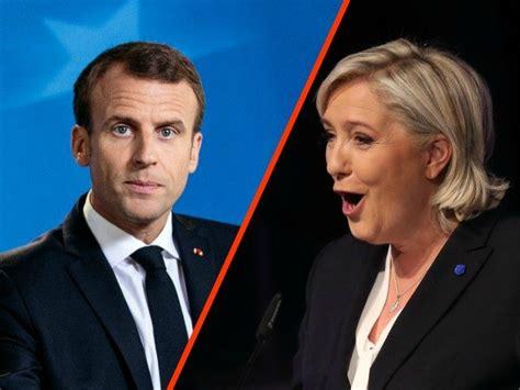 emmanuel macron marine le pen marine le pen mocks macron in panic as eu elections approach