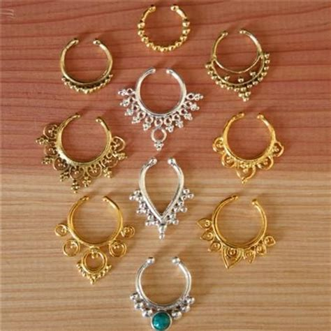Decorative Septum Jewelry by Septum Ring Assorted Package Faux Septum Ring