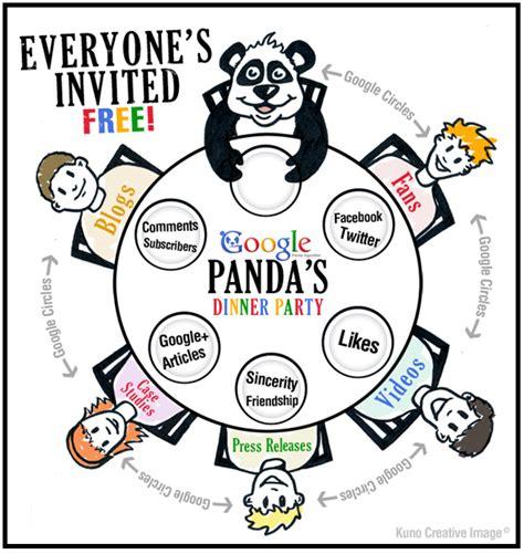 google images party google panda s dinner party cartoon