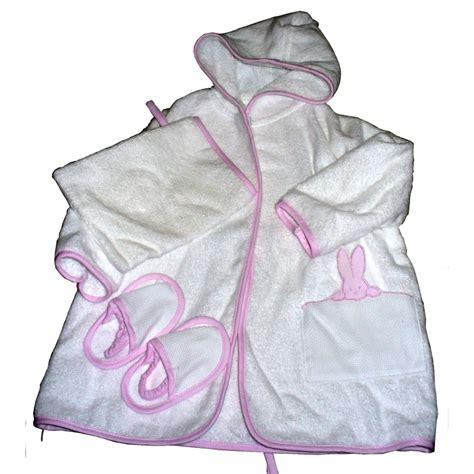 set bagno neonato set bagno accappatoio neonato da ricamare rosa