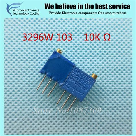 10k variable resistor 103 10pcs lot 3296w 1 103lf 3296w 103 10k ohm top regulation multiturn trimmer potentiometer high
