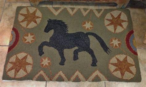 Primitive Hooked Rug Pattern On Monks Quot Antique Horse Quot Ebay Antique Rug Patterns