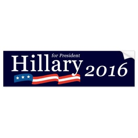 Clinton Bumper Stickers clinton for president 2016 bumper sticker zazzle