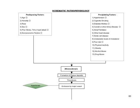 how to make a pathophysiology diagram schematic pathophysiology cva