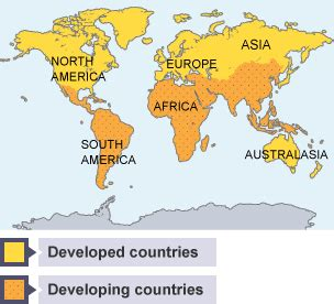 bitesize higher geography differences in levels of development between developing