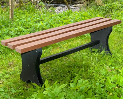 recycled bench 1 5m recycled plasic bench backless